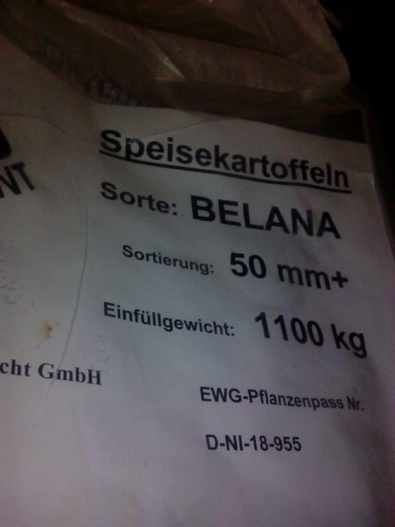 SZPI zjistila 26 tun brambor s klamavě označenou odrůdou z Německa