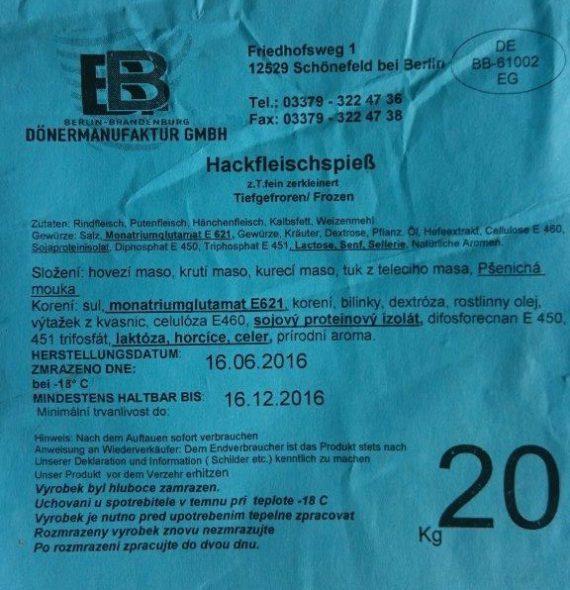 SVS zadržela v Ústeckém kraji a v Praze další zásilky kebabu z Německa kvůli obsahu nepovolených přídatných látek