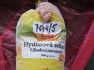 Hydinová sekaná hlbokozmrazená-mäsový prípravok